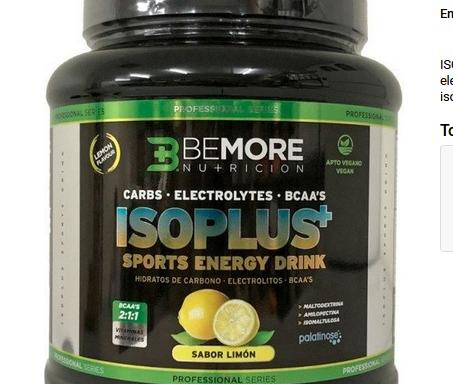 Electrolitos Isoplus Sports Energy Drink – 600 Gr
