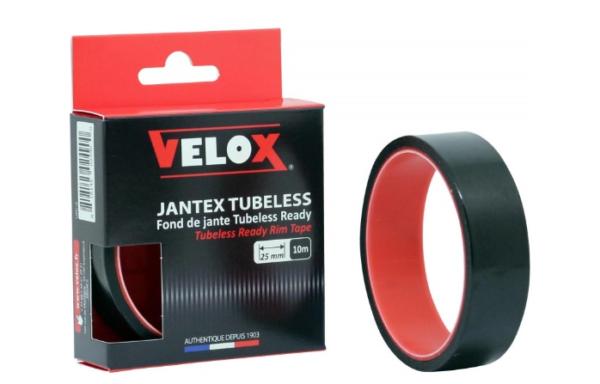 Cinta de llanta Velox VTT Tubeless Ready 25 mm / 10 metros negro