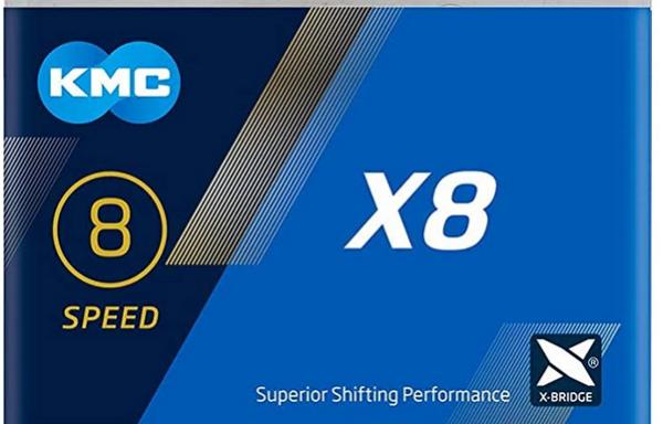 Cadena KMC X8 114 eslabones 8 velocidades