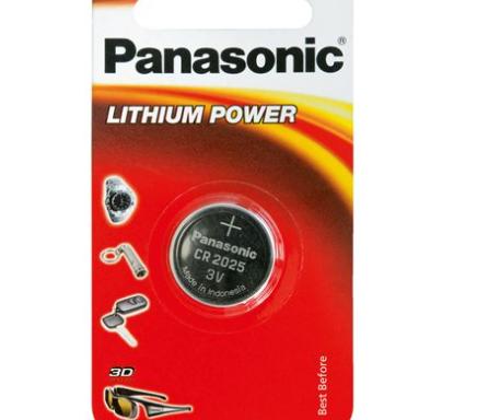 Pila de botón litio CR2025 Panasonic – Paquete de 1