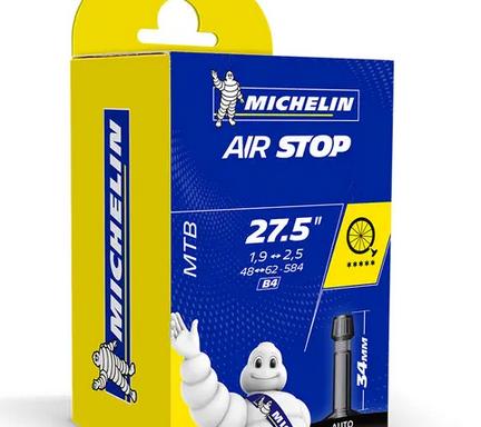 Cámara Michelin Airstop 27.5 Válvula Schrader 34mm